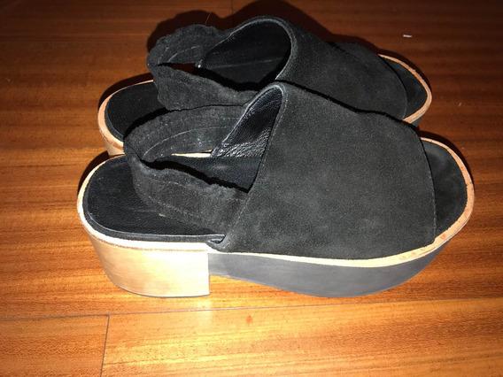 Zapatos Sandalias Mishka 36 Negros Casi Nuevos