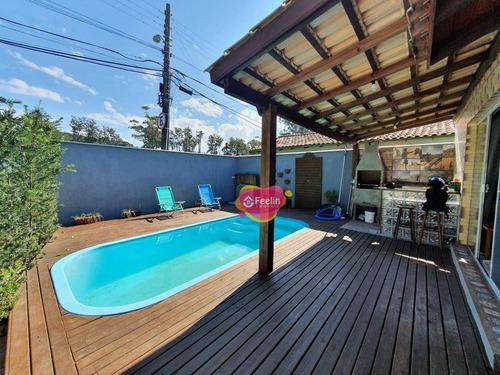 Imagem 1 de 30 de Bela Casa Térrea No Morro Das Pedras, Florianópolis/sc - Sc - Ca0018_feelin