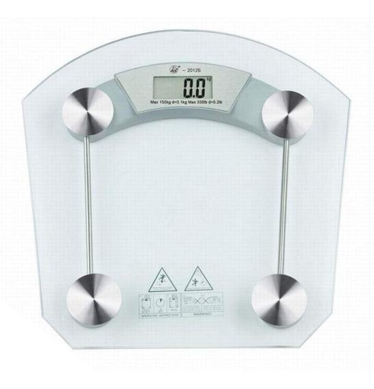 Balanza Digital Personal Peso Vidrio Seguridad 180kg Baño