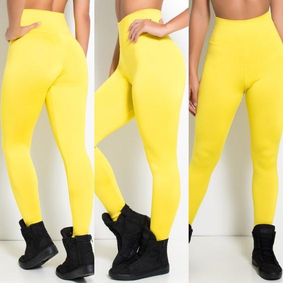 Calça Legging Suplex Lisa Fitness Academia Ginastica