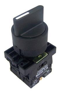 Chave Seletora 3 Posições 22.5mm Com 2 Blocos De Contato
