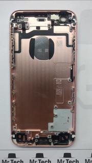 Carcaça iPhone 6s Rosa Ouro Rosê Original Retirada C/ Botões