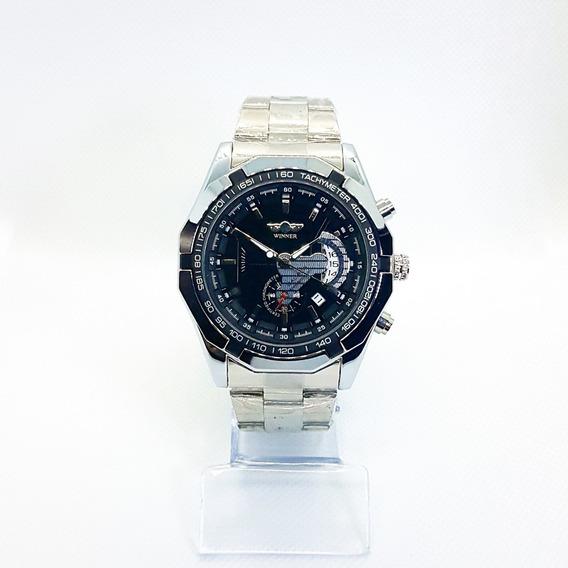 Relógio Winner W050 Automático Mecânico Com Data