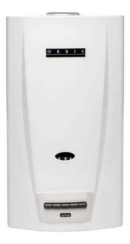 Calefón Orbis 14 Litros 315kno Blanco Botonera Gas Natural