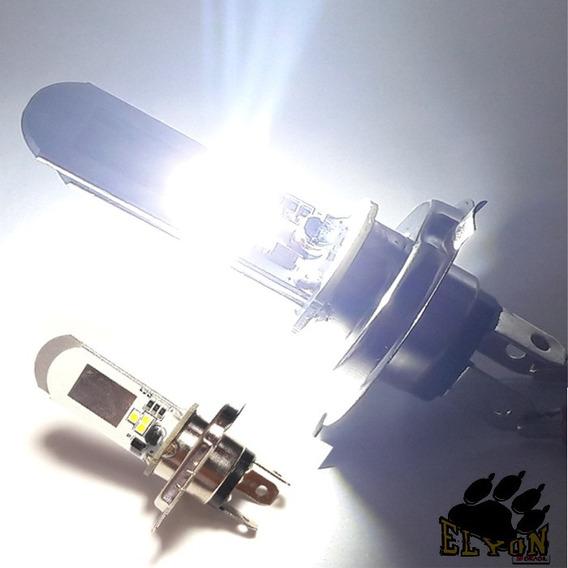Kit 2 Lampada Farol Super Led H4 Carro Moto Maior Alcance