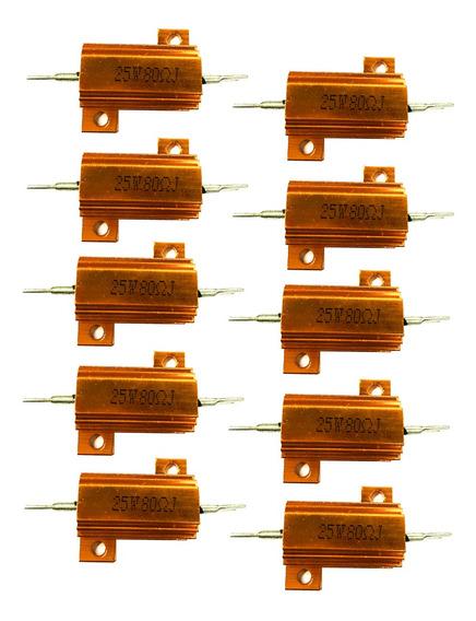 10 Peças 25w Alumínio Folheado Poder Wirewound Resistores