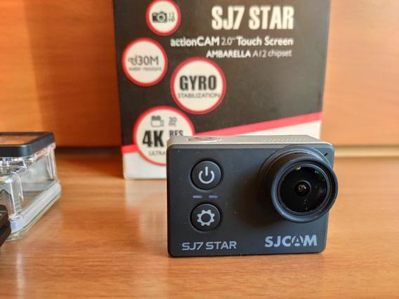 Câmera Sjcam Sj7 4k Original C/ 3 Baterias + Acessórios