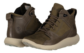 Zapato Piel Timberland A1jg3 Dama Verde Oscuro