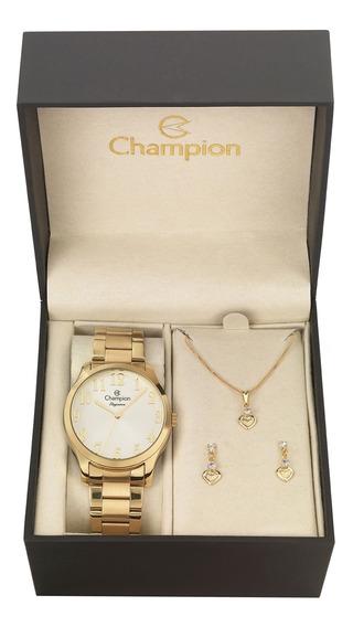 Relógio Champion Passion Feminino Cn26019w + Folheado 18k