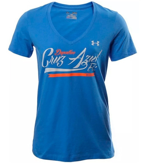 Playera Futbol Cruz Azul Mujer Under Armour Ua1354