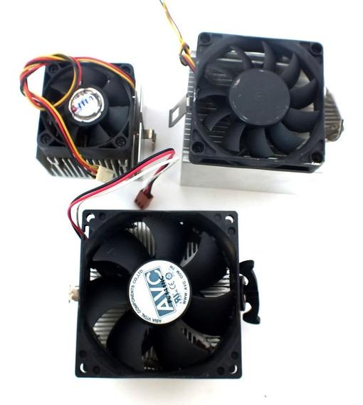 Acessório Para Computador Kit Com 3 Cooler Marca Tita/avc/acer Peça Usada Sem Embalagem A11699