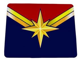 Mouse Pad Filme Capitã Marvel Logo - 21x17cm - Frete Grátis