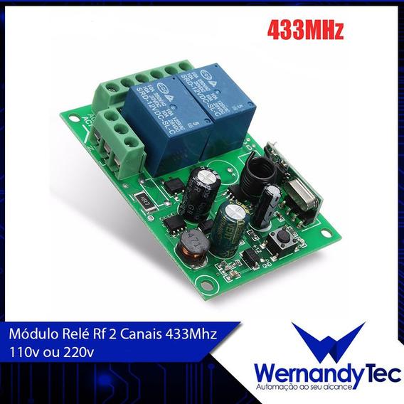 8x Módulo Relé Rf 2 Canais 433mhz 85v - 220v Broadlink Comp.