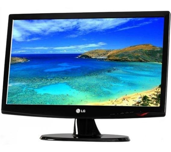 Monitor Lcd Hp/lg 18,5 Polegadas W1943c-c/cabos- Funcionando