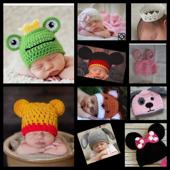 Toucas Newborn Croche 10 Pecas