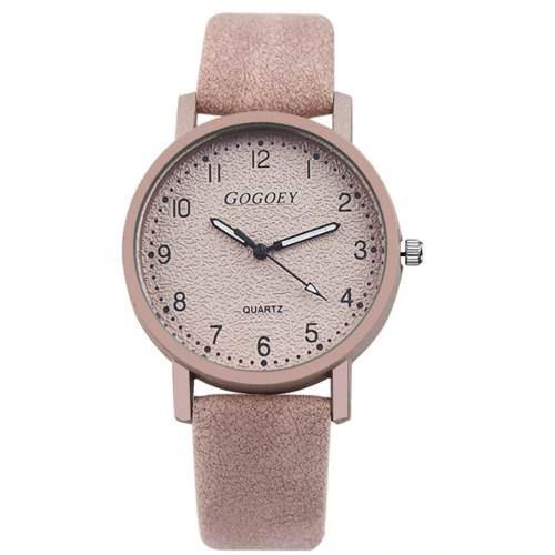 Relógio Feminino Pulso Rose Barato Luxo Pulseira Couro Top