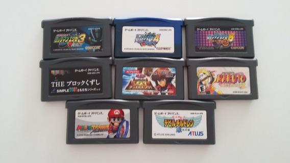 Lote De 8 Jogos Originais Japonês Para Game Boy Advance