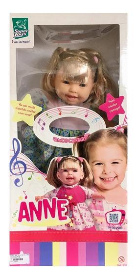 Boneca Anne Cante Comigo Com Cabelo - Super Toys