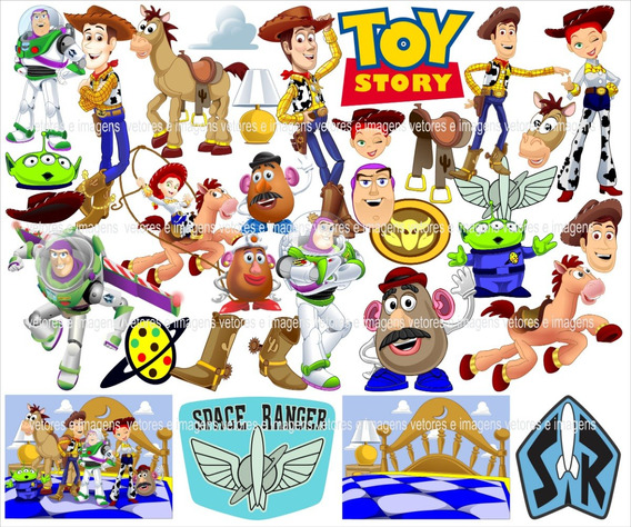 Toy Story Vetores E Imagens Corel Pdf Png Link Para Download