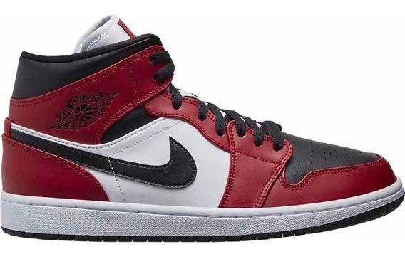 Sneakers Original Jordan 1 Mid Chicago Toe Originales