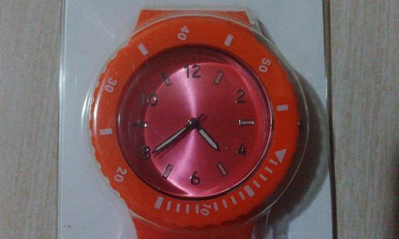 Relógio Importado C/ Pulseira De Silicone - Laranja