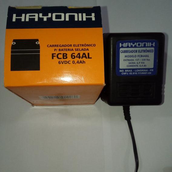 Carregador Eletrônico P/bateria Hayonik 6vdc 0,4ah