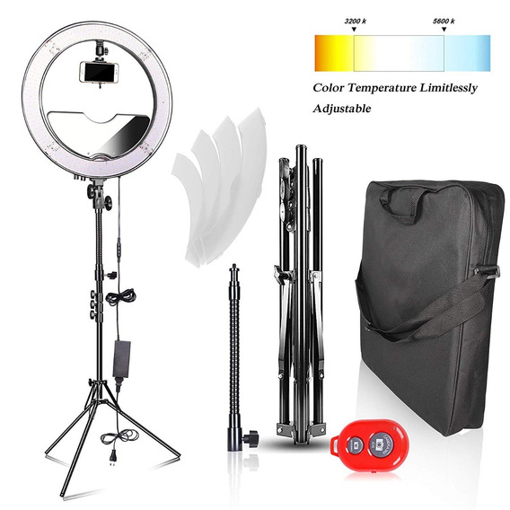 Iluminación Emart 18 Inch Bi-color Led Ring Light With Stand