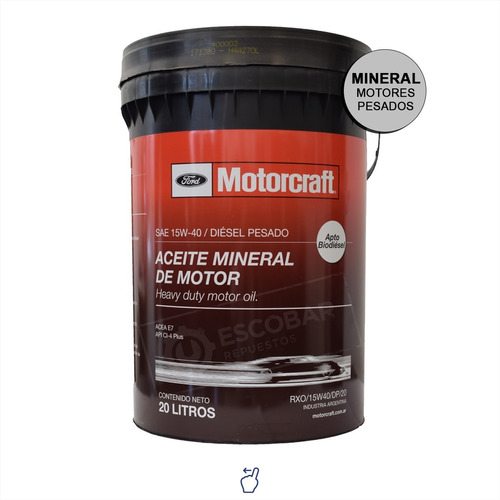 Aceite Ford Motorcraft Mineral Motores Diesel X 20 Lts.