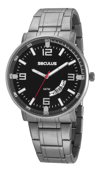 Relógio Seculus Masculino Titanium 20629gosvnt1