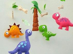 Mobile De Teto Dinossauros Em Feltro