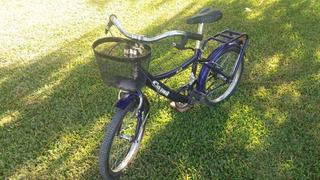 Bicicleta Niñas, Con Canasto, Muy Buen Estado