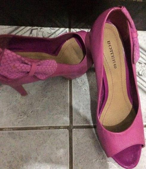 Sapato Peep Toe-37- Bottero- Rosa