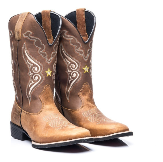 Bota Texana Masculino Em Couro Legitimo Xerife Whisky