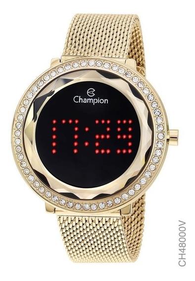Relógio Digital Feminino Champion Ch48000v Dourado