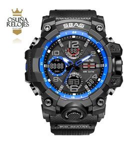 Relógio Militar - Shock Sbao Original Camuflado Com Caixa