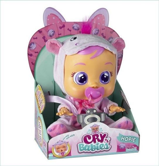Boneca Cry Babies Hopie Chora De Verdade C/ Chupeta- Br1030