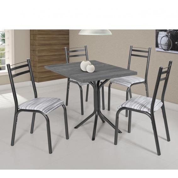 Conjunto Mesa Com 4 Cadeiras Plaza Clássica Ciplafe Df