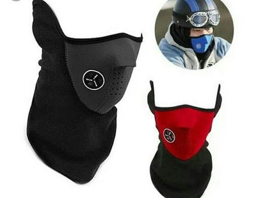 Mascara De  Microfibra Y Polar Con Velcro