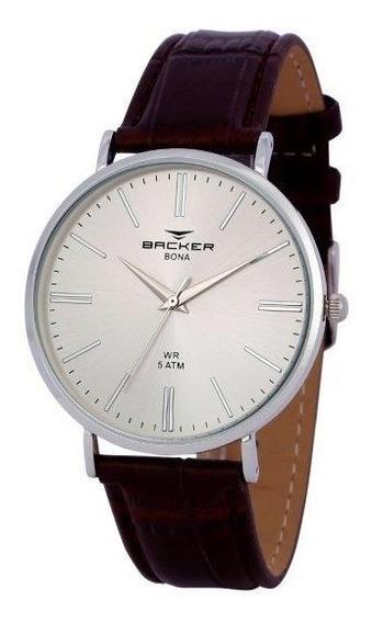 Relógio Backer Masculino Slim 10804122m Si Original Barato