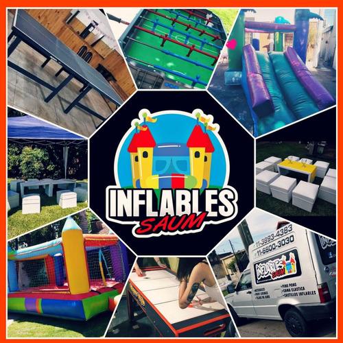 Alquiler Castillo Inflable, Metegol, Puf Livings, Tejos,
