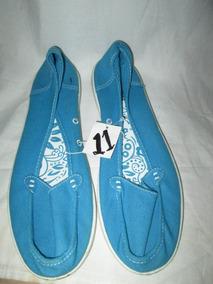Zapato Flat Azul De Mujer Num. 11 ( 28 ) Joe Boxer
