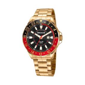 Relógio Masculino Seculus Dourado