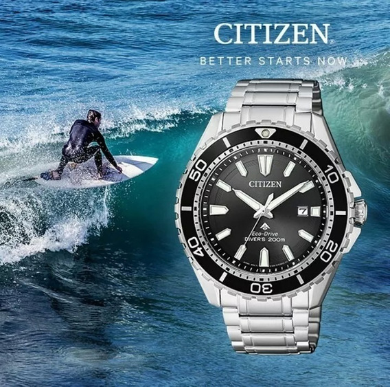 Citizen Bn0190-82e Eco-drive 200m Diver - Made In Japan