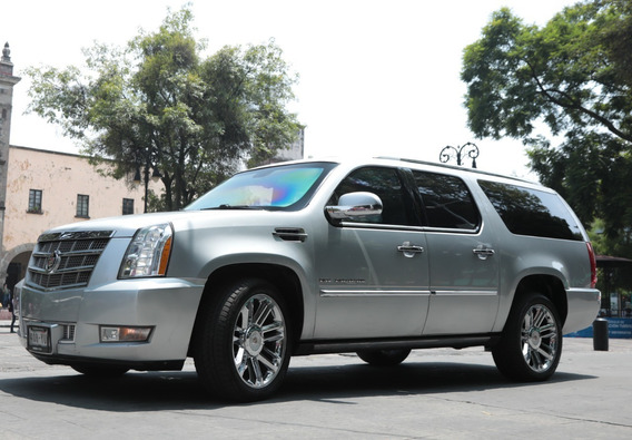 Cadillac Escalade Esv Blindada Color Plata
