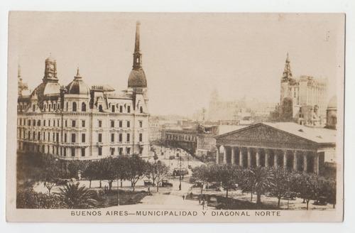 Buenos Aires Postal Antigua Municipalidad Año 1924