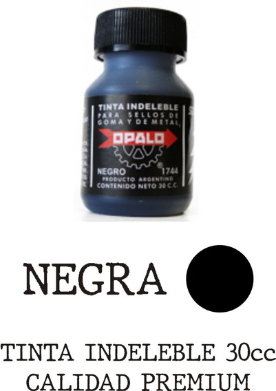 Tinta Indeleble Negra Opalo 30cc Calidad Premium Zona Norte