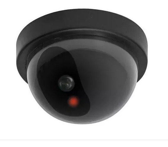 Camara Falsa Domo Con Led Intermitente Seguridad Vigilancia