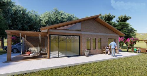 Imagem 1 de 6 de Planta De Casa 2 Quartos - Projeto Arquitetônico Completo