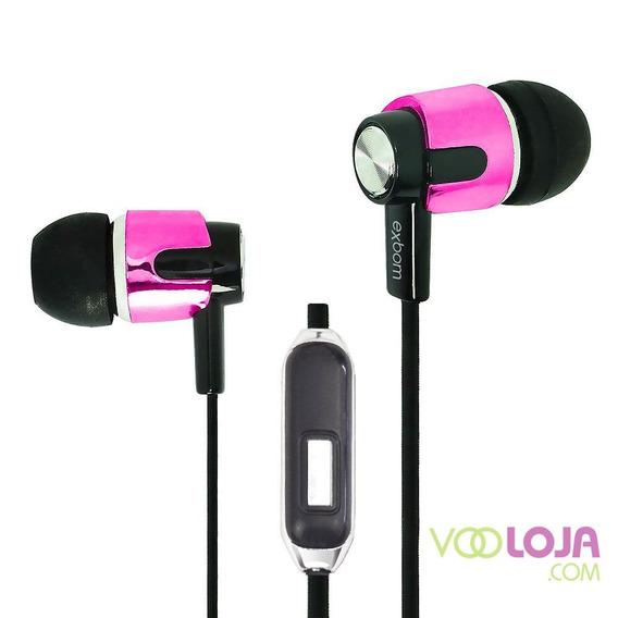 Fone De Ouvido C/ Microfone Para Chamadas-exbom-ef-g10mv