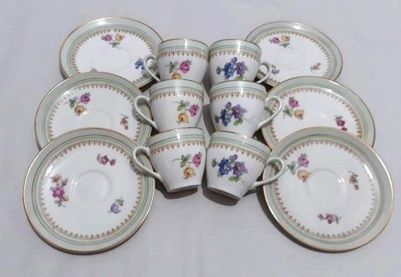 Juego Café 12 Piezas Pocillos & Platitos Porcelana Limoges